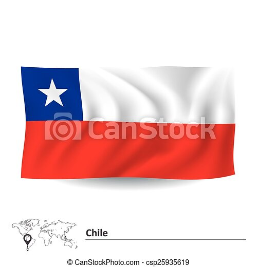 Flag of Chile - csp25935619