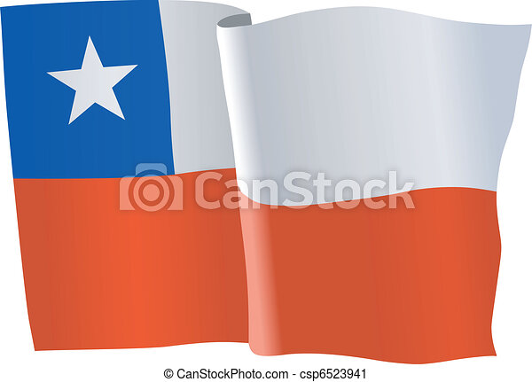 flag of Chile - csp6523941