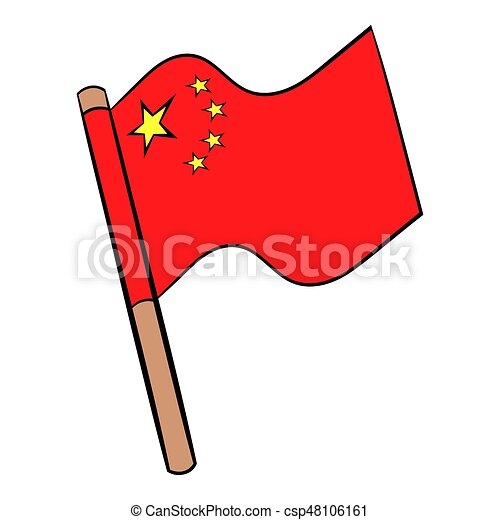 flag of china icon cartoon flag of china icon in cartoon stock rh canstockphoto com china clipart free china clipart black and white