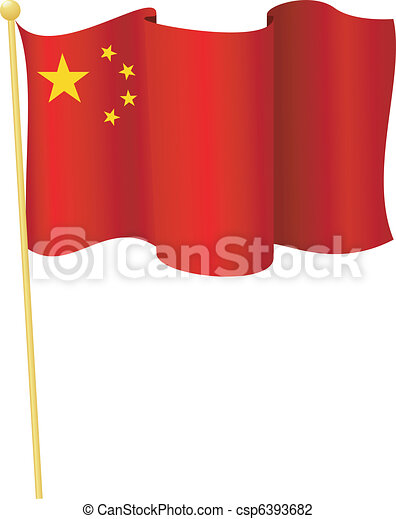 flag of  China. vector - csp6393682