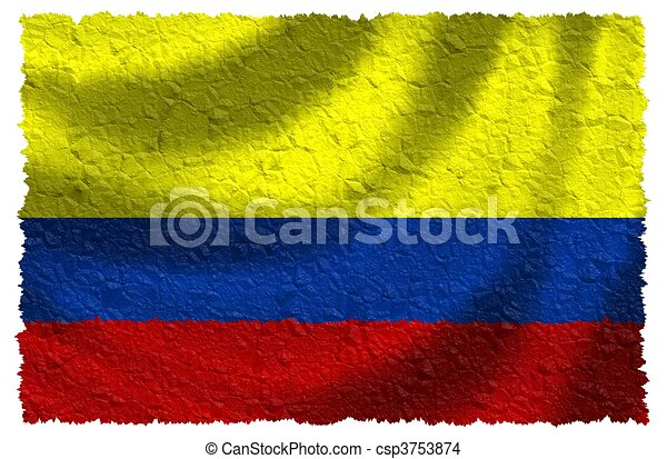 Flag of Colombia - csp3753874