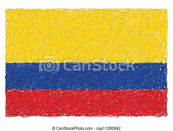 flag of colombia - csp11280842