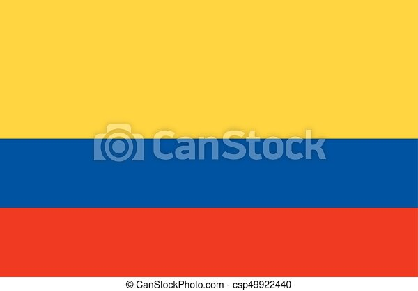 Flag of Colombia - csp49922440