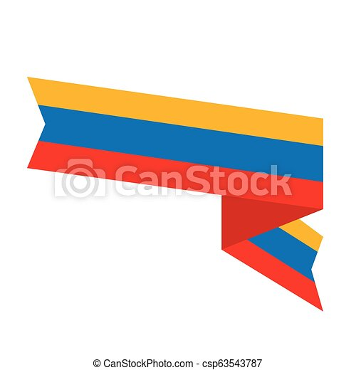 Flag of Colombia - csp63543787