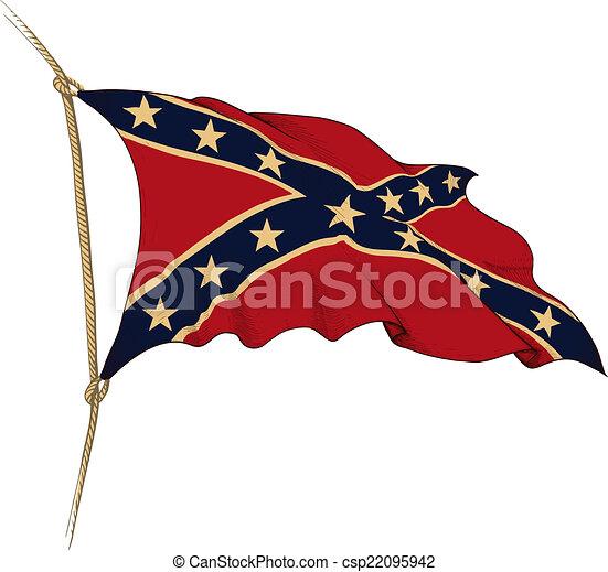 flag of Confederate - csp22095942
