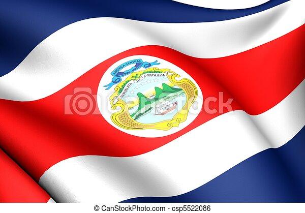 Flag of Costa Rica - csp5522086