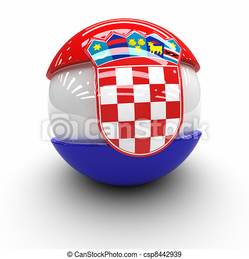 Flag of  Croatia - csp8442939