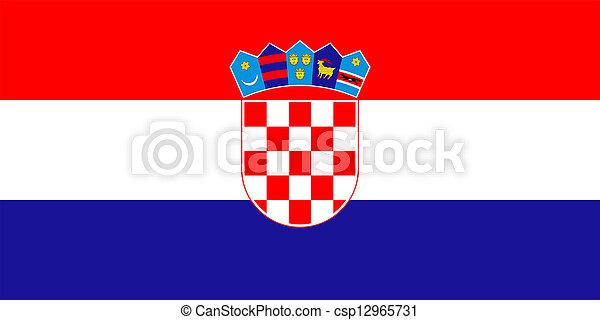 Flag of Croatia. - csp12965731