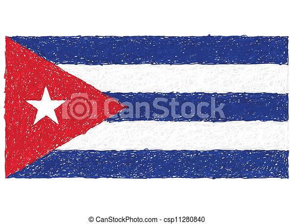 flag of cuba - csp11280840