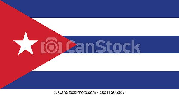 Flag of Cuba - csp11506887