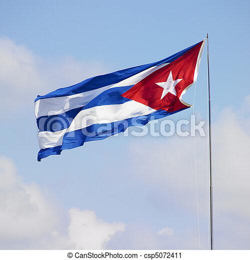 flag of Cuba - csp5072411