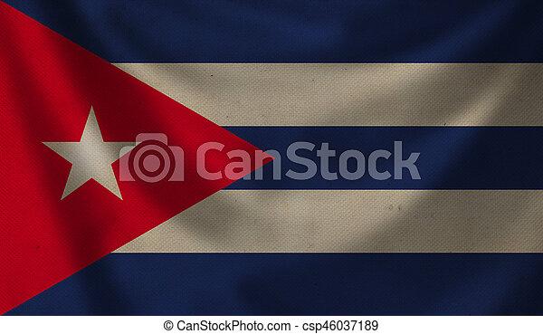 Flag of Cuba. - csp46037189