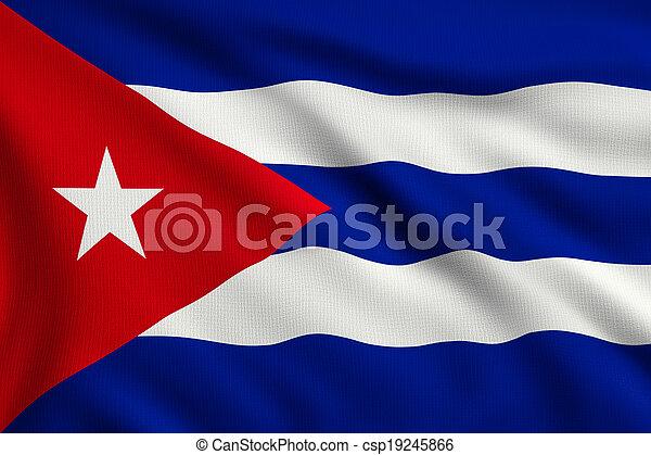 Flag of Cuba - csp19245866