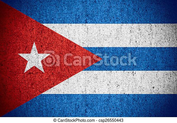 flag of Cuba - csp26550443