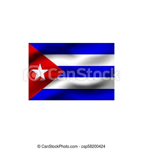 Flag of Cuba. - csp58200424