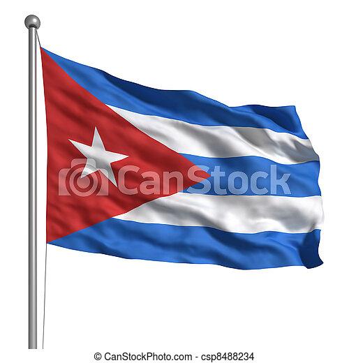 Flag of Cuba - csp8488234