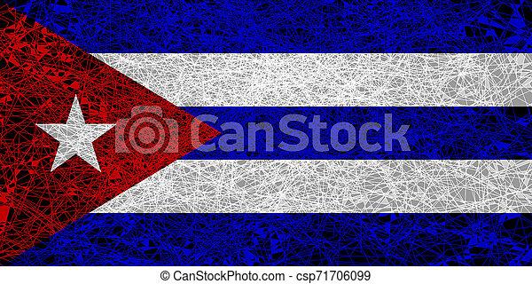 Flag of Cuba. - csp71706099