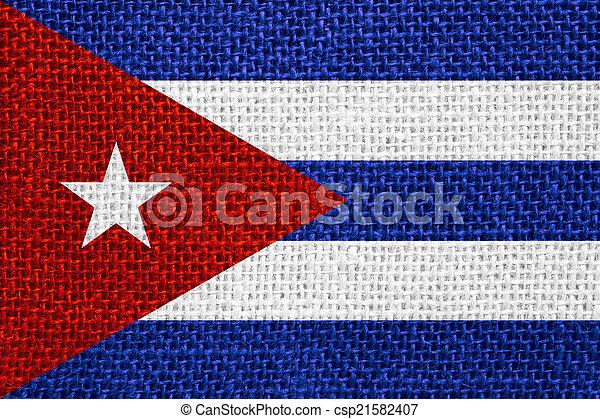 flag of Cuba - csp21582407