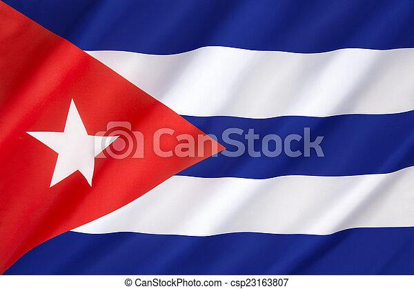 Flag of Cuba - csp23163807