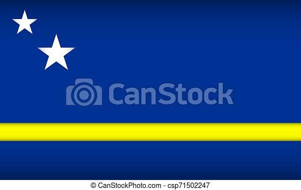 Flag of Curacao. - csp71502247
