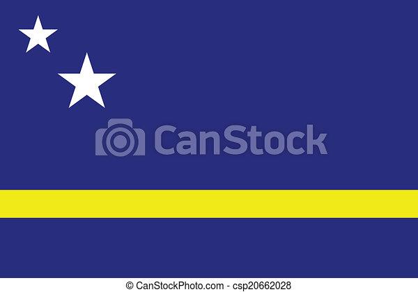 Flag of Curacao - csp20662028