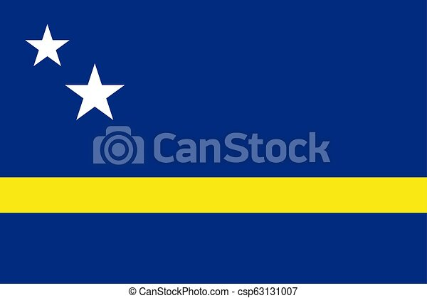 Flag of Curacao official colors and proportions - csp63131007