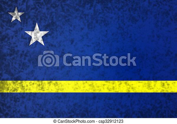 Flag of Curacao. - csp32912123
