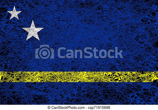 Flag of Curacao. - csp71915698