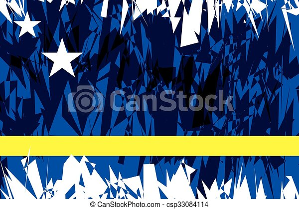 Flag of Curacao. - csp33084114