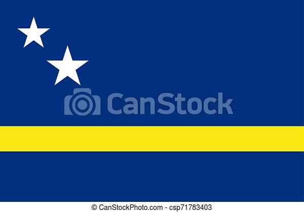 Flag of Curacao. Vector illustration. World flag - csp71783403