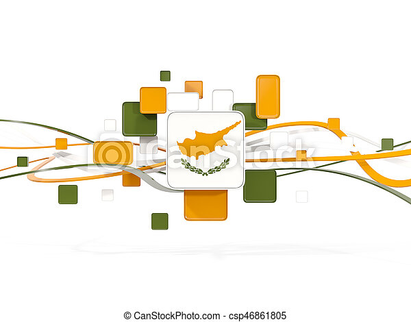 Flag of cyprus, mosaic background with lines - csp46861805