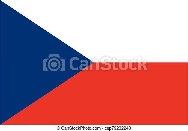 Flag of Czech Republic vector illustration - csp79232240