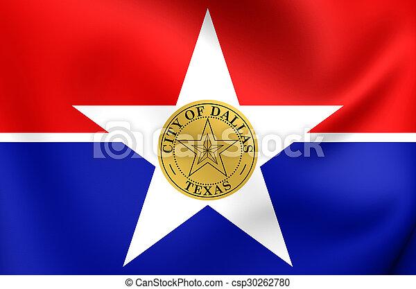 Flag of Dallas City, Texas. - csp30262780