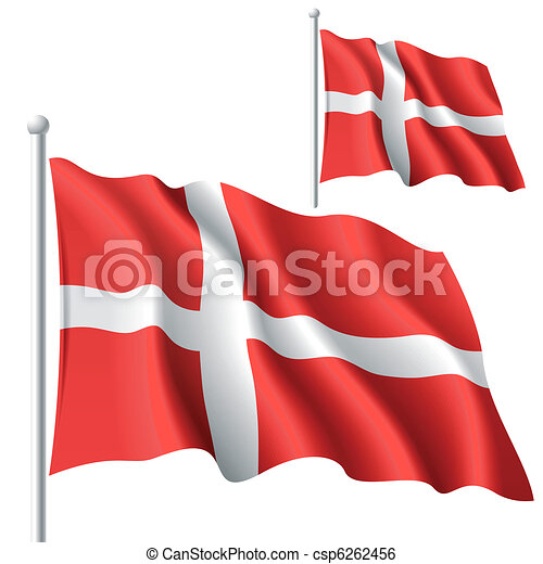 Flag Denmark Clipart Vector And Illustration 3143 Flag Denmark