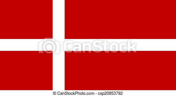 flag of Denmark - csp20853792