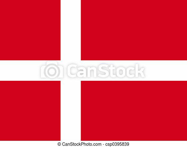 Flag of Denmark - csp0395839