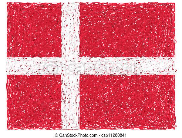 flag of denmark - csp11280841
