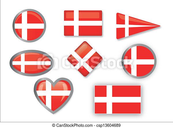 flag of Denmark - csp13604689