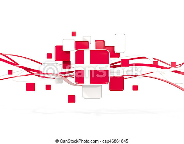 Flag of denmark, mosaic background with lines - csp46861845