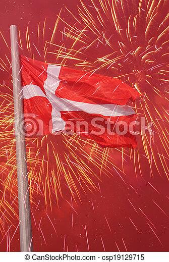 flag of Denmark - csp19129715