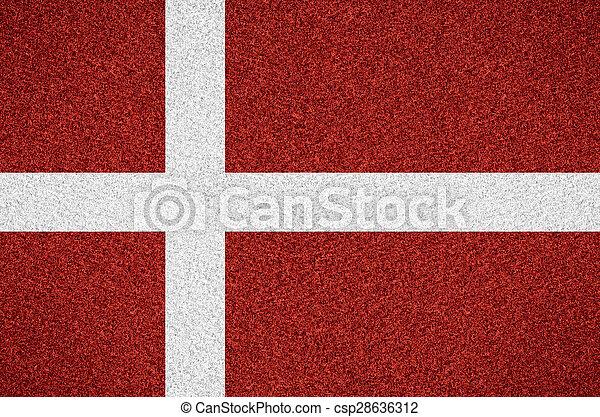 flag of Denmark - csp28636312