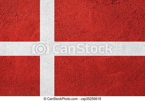 flag of Denmark - csp35256618