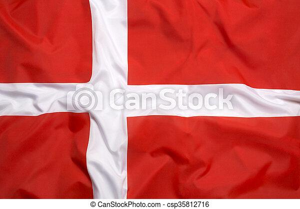 Flag of Denmark - csp35812716