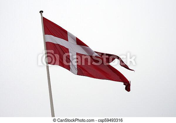 Flag of Denmark - csp59493316