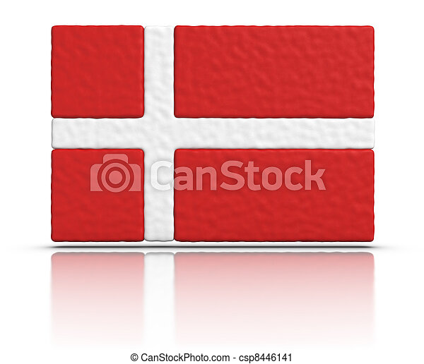 Flag of Denmark - csp8446141
