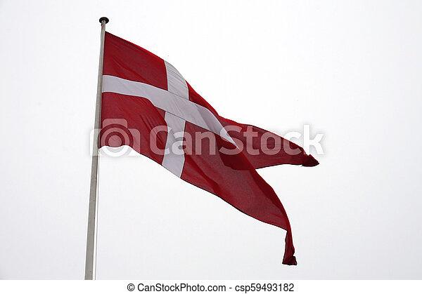 Flag of Denmark - csp59493182