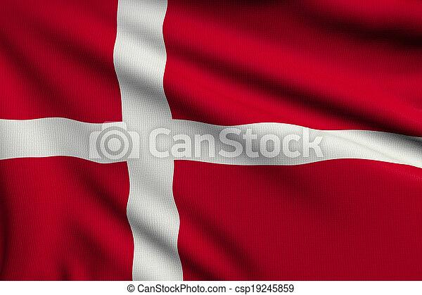 Flag of Denmark - csp19245859