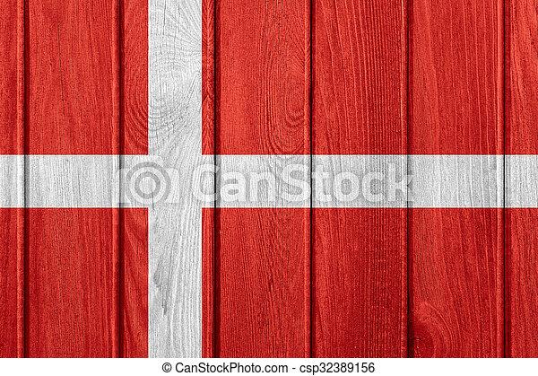 flag of Denmark - csp32389156