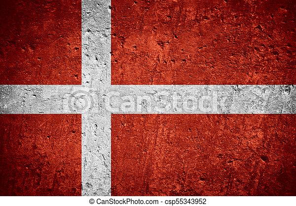 flag of Denmark - csp55343952
