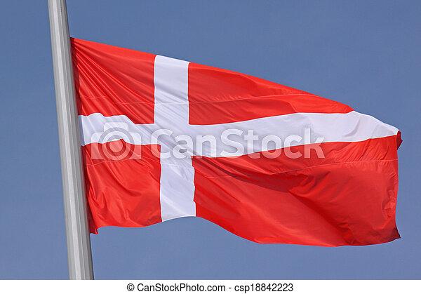 flag of Denmark - csp18842223